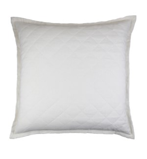 linen quilted pillow