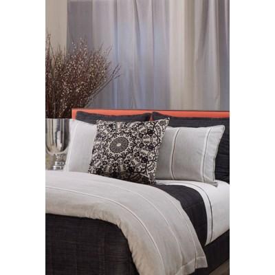 linen wool stripe sham