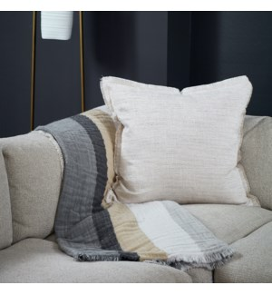 macau raw-edge pillow
