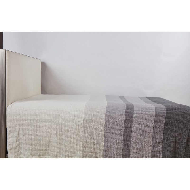 pebble coverlet set - stripe