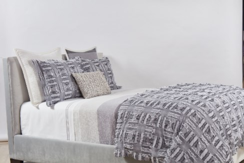 pebble coverlet set - stripe