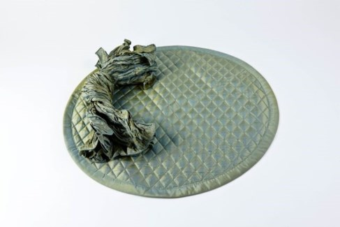 round quilted taffeta placemats - set of 4
