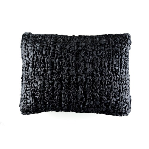 ribbon knit pillow