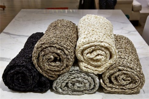 ribbon knit throw