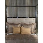 sheer metallic linen pillow