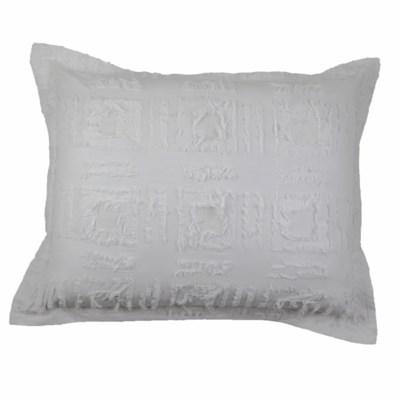 fringe duvet set - white