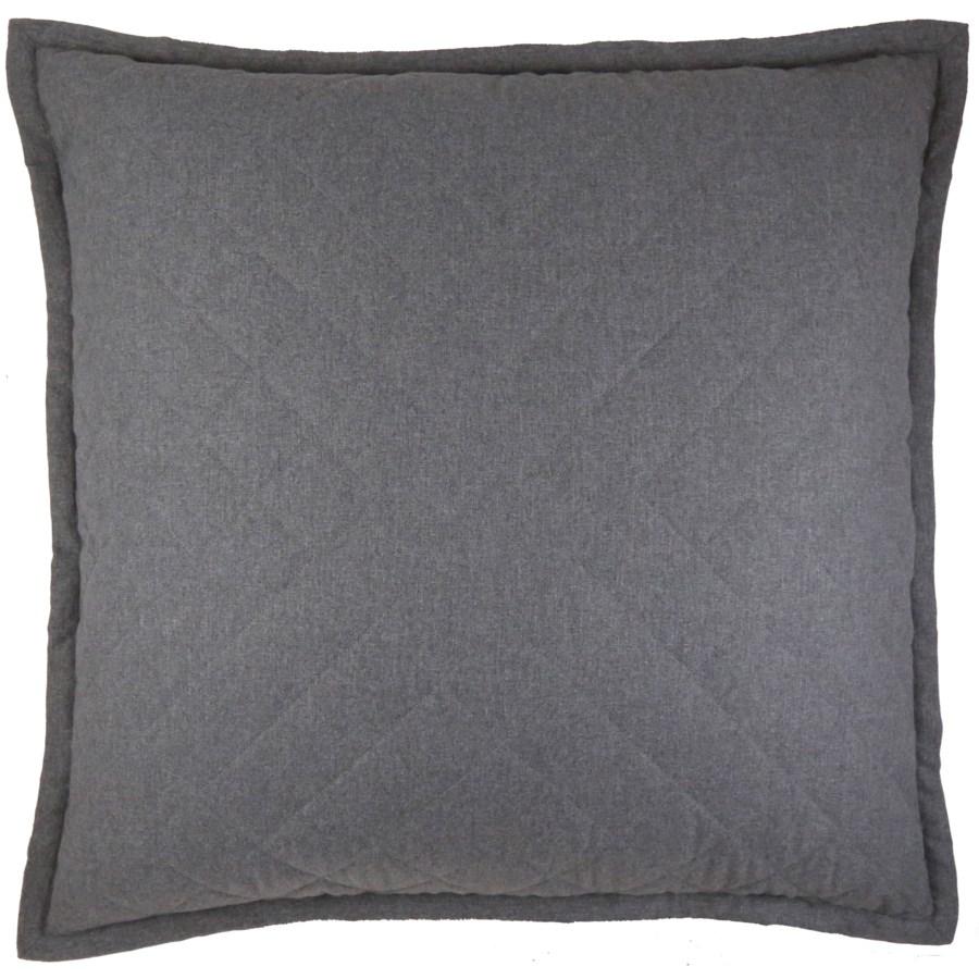 flannel coverlet set - grey