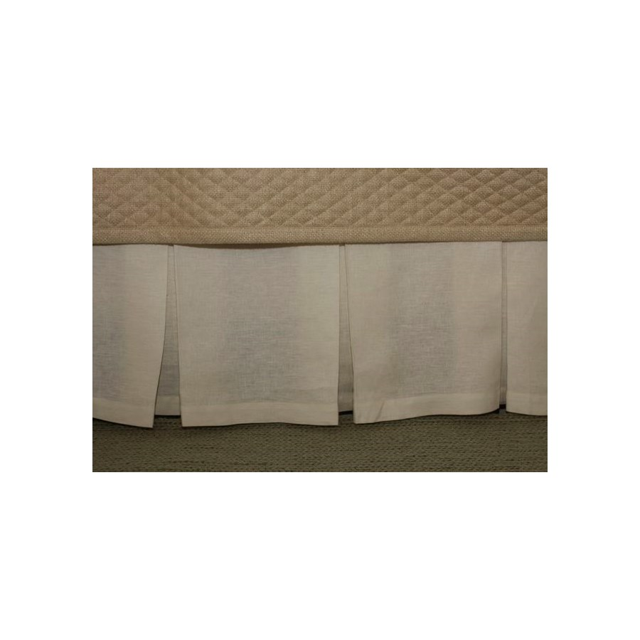 linen box pleat skirt