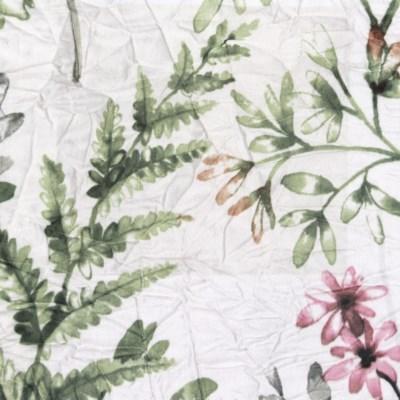 botanical crinkle duvet set