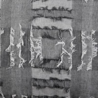 fringe duvet set - grey