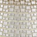 metallic mosaic pillow in platinum