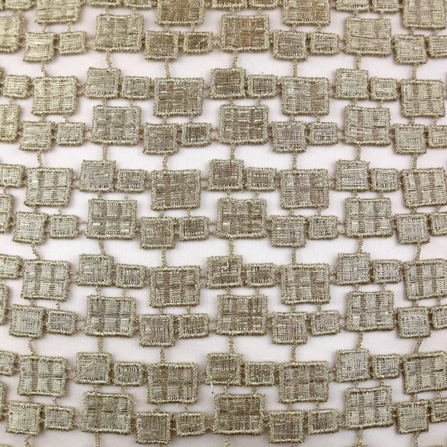 metallic mosaic pillow in gold