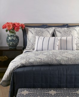 texture coverlet set - blue