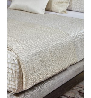 metallic mosaic throw