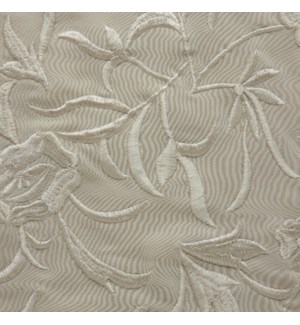 embroidered silk yardage