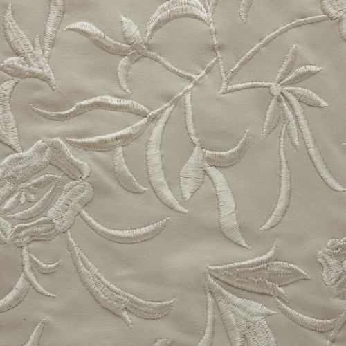 embroidered silk yardage