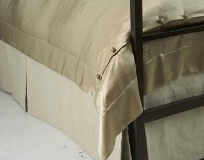 basketweave tailored bed skirt