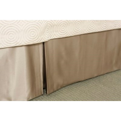 charmeuse tailored bed skirt