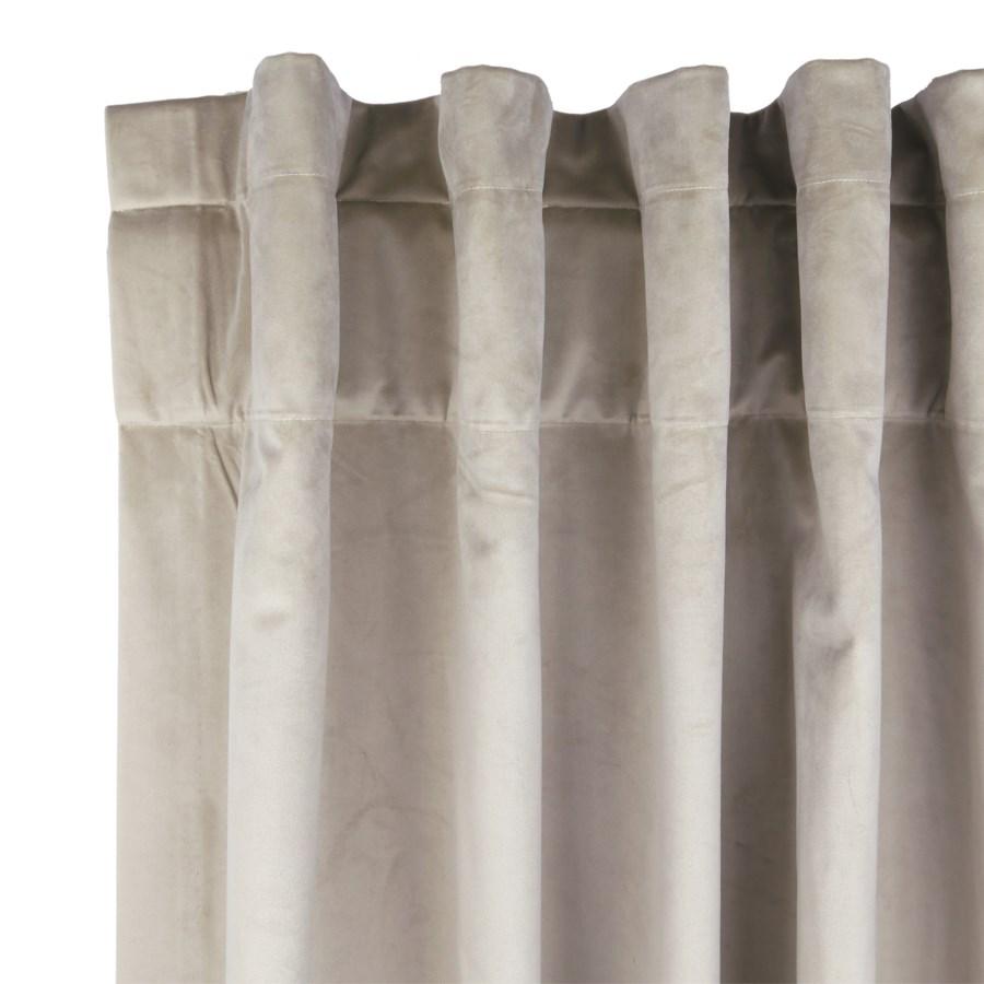 velvet curtain panel - taupe