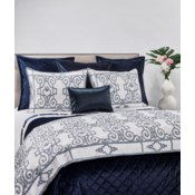 velvet coverlet set - navy