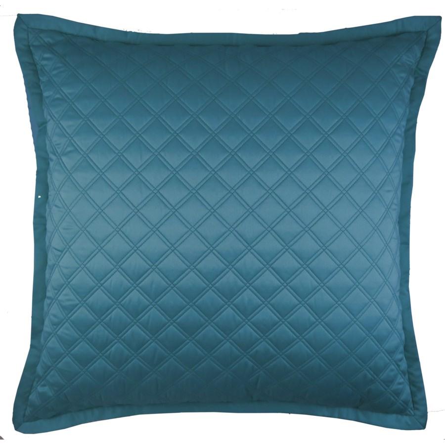 double diamond coverlet set - teal