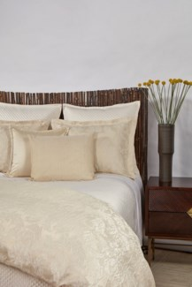 single diamond coverlet set - ivory