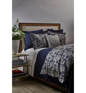 scratch duvet set - navy/silver