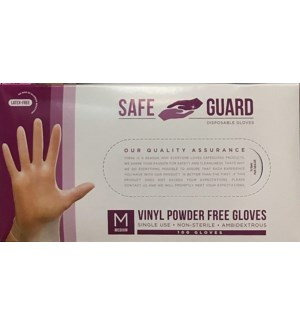 VINYL GLOVES CLEAR POWDER FREE