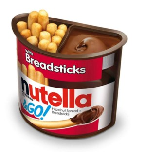 NUTELLA & GO #80016 HAZELNUT SPREAD BREADSTICKS