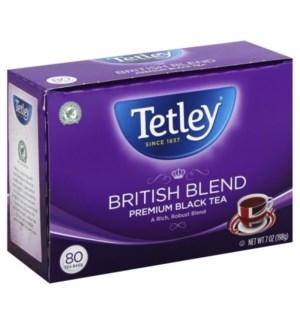 TETLEY BLACK TEA BAGS #05450