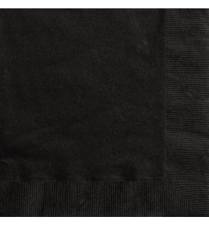 UQ #3202 LUNCHEON NAPKINS/BLACK