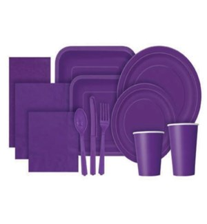 UQ #3302 LUNCHEON NAPKINS/PURPLE