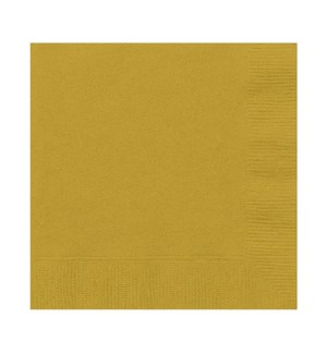 UQ #3321 BEVERAGE NAPKINS/GOLD