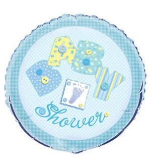 BALLOON #24180 B'SHOWER/BLUE