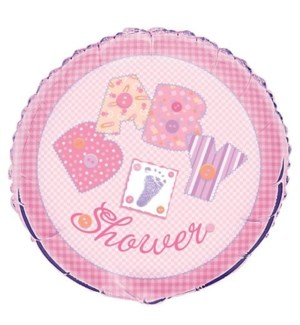 BALLOON #24240 B'SHOWER/BABY GIRL