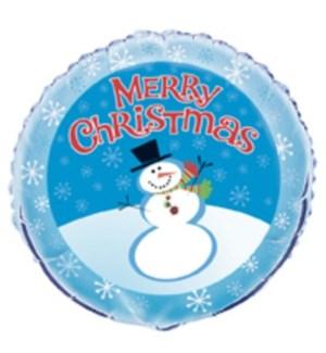 CH-MAS UQ BALLOON #28072 SNOWMAN