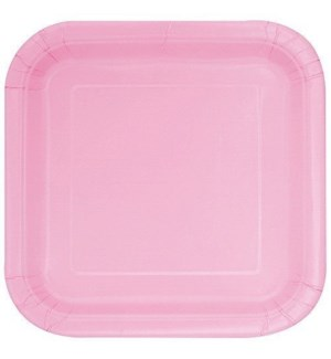 """UQ #30881 9"""" SQ PLATE/LOVELY PINK"""