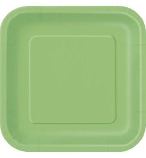 """UQ #31421 7"""" SQ PLATE/LIME GREEN"""