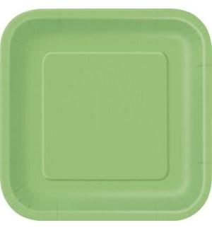 """UQ #31429 9"""" SQ PLATE/LIME GREEN"""