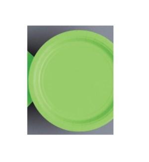 "UQ #31433 9"" RD PLATE/LIME GREEN"