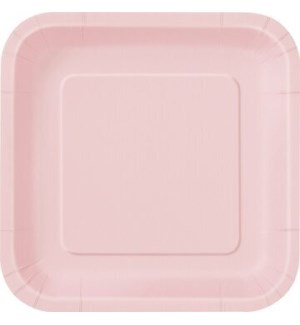 """UQ #30880 7"""" SQ PLATE/LOVELY PINK"""