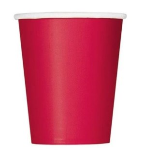 UQ #31456 9OZ PAPER CUPS/RED
