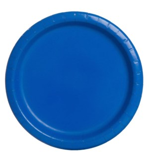"UQ #31474 7"" RD PLATE/ROYAL BLUE"