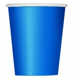 UQ #31476 9OZ PAPER CUPS/ROYAL BLUE