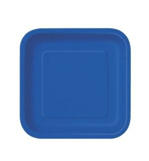 "UQ #31495 7"" SQ PLATE/ROYAL BLUE"