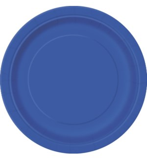 "UQ #31770 9"" RD PLATE/ROYAL BLUE"