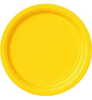 "UQ #31843 9"" RD PLATE/YELLOW"