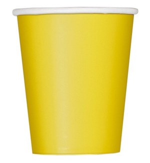 UQ #31846 9OZ PAPER CUPS/YELLOW