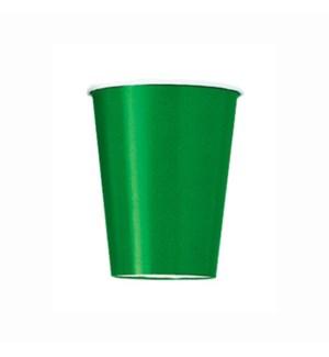 UQ #31866 9OZ PAPER CUPS/EMERALD GRE