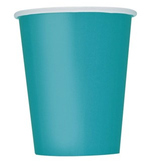 UQ #32126 9OZ PAPER CUPS/TEAL